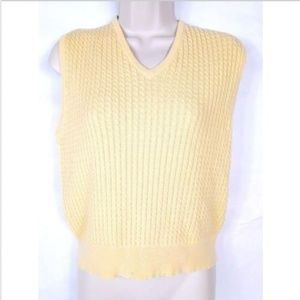 Pendleton Women's Sweater Vest Small Yellow